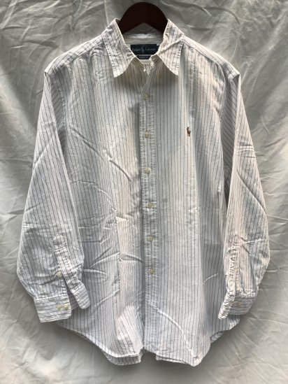 90-00's USED Ralph Lauren PIN Stripe OX BD Shirts / 7