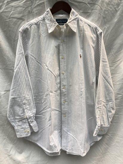 90-00's USED Ralph Lauren PIN Stripe OX BD Shirts / 7