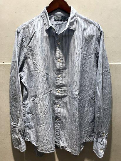 90-00's USED Ralph Lauren Spread Collar Poplin Shirts / 10