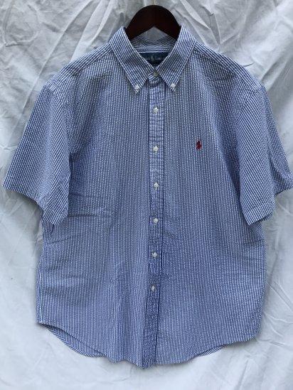 90-00's USED Ralph Lauren Seersucker S/S BD Shirts