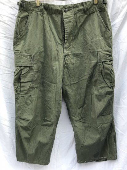 60's Vintage US Army Non Rip 3rd Jungle Fatigue Pants