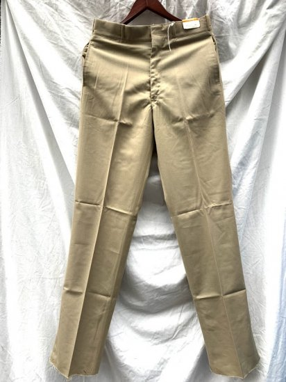 70s Vintage Dead Stock US Army Type Tropical Trousers / 1