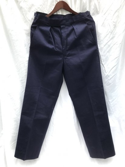 70〜80's Vintage Dead Stock Royal Navy Working Dress Trousers P/C Navy