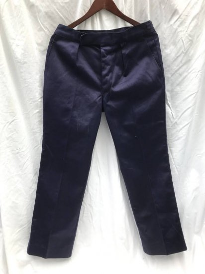 60's ~ 70's Vintage Dead Stock ? Royal Navy Working Dress Trousers Cotton 100% Navy 72/88/104