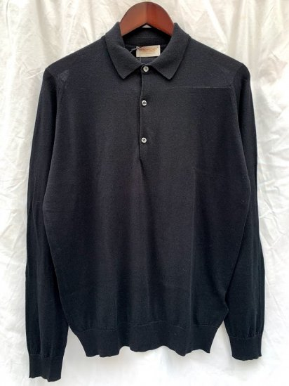 John Smedley Sea Island Cotton × Cashmere Long Sleeve Polo Shirts