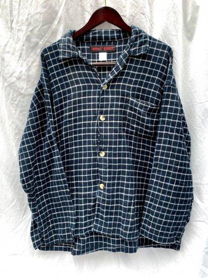90s∼00s Boxer Boxer Cotton Flannel Pajama Shirts Graph Check