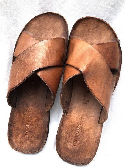 BRADOR Leather Sandal Made in Italy Brown<BR>SALE!! \16,000 → \12,800 +tax