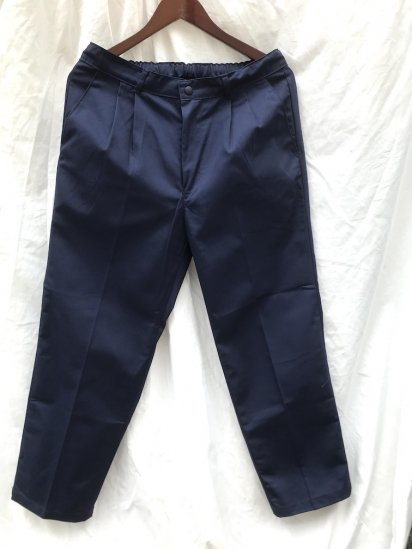 Uniform World Pleasted Front 2 tuck Work Pants Made in ENGLAND Navy