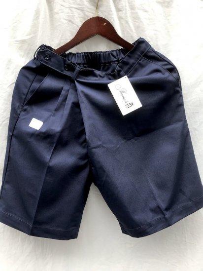 Uniform World Asymmetry WrapShort Pants Made in ENGLAND / Navy