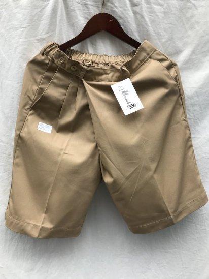 Uniform World Asymmetry WrapShort Pants Made in ENGLAND / Camel
