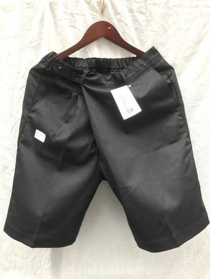 Uniform World Asymmetry WrapShort Pants Made in ENGLAND / Black