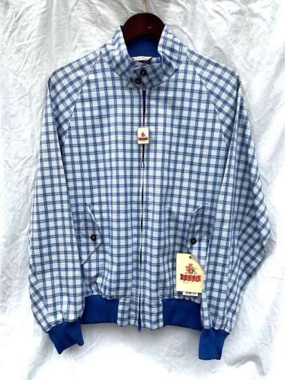 Dead Stock BARACUTA G-9 Harrington Jacket Made in England Blue Check