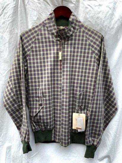 Dead Stock BARACUTA G-9 Harrington Jacket Made in England Purple×Green Check