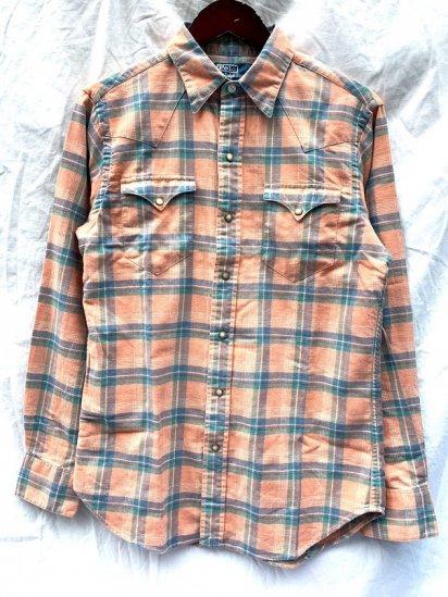 90∼00's Dead Stock Ralph Lauren Cotton Flannel Western Shirts