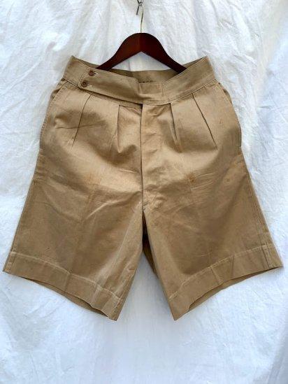 40's Vintage British Army Khaki Drill Shorts W~30 / 2