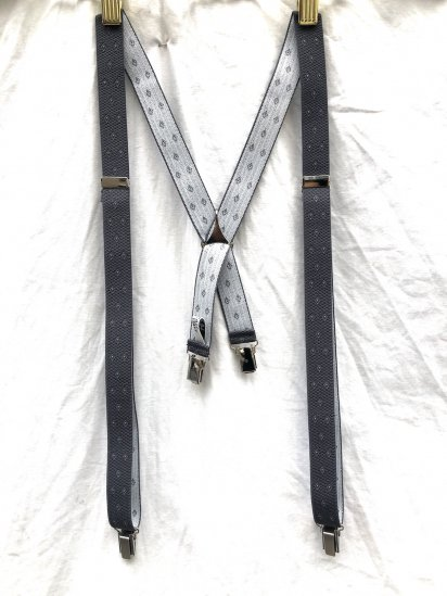 La Ducale Braces Made in Italy Grey x White