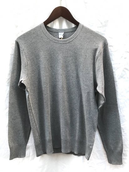 Gicipi Cotton Knit Crew Neck Made in Italy Gray<BR>SALE!! 5,300 ⇒ 3,710 +Tax