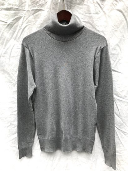 Gicipi Cotton Knit Turtle Neck Made in Italy Gray<BR>SALE!! 6,300 ⇒ 4,410 +Tax