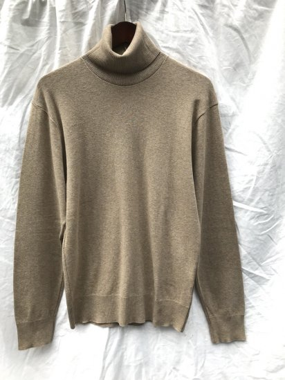 Gicipi Cotton Knit Turtle Neck Made in Italy Beige<BR> SALE!! 6,300 ⇒ 4,410 +Tax