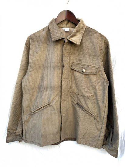 Massaua Corduroy Work Jacket Made In Italy Khaki