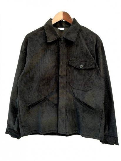 Massaua Corduroy Work Jacket Made In Italy Black