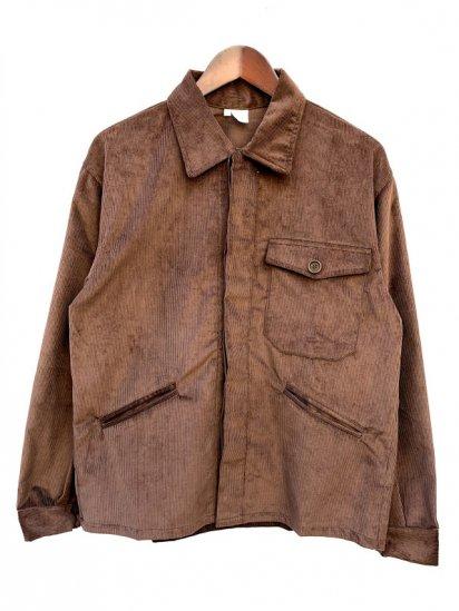 Massaua Corduroy Work Jacket Made In Italy Brown