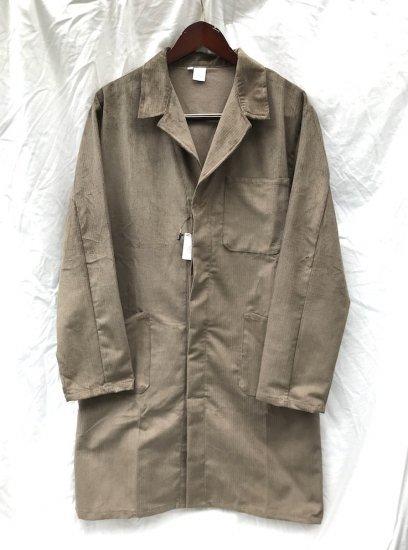 Massaua Corduroy Work  Coat Made In Italy Khaki