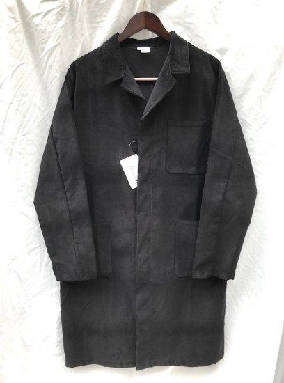 Massaua Corduroy Work  Coat Made In Italy Black