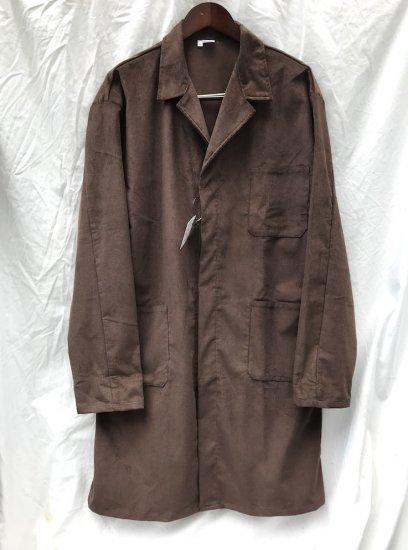 Massaua Corduroy Work  Coat Made In Italy Brown