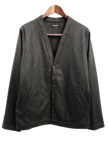 FRANK LEDER Light Weight Loden Cardigan Made in Germany Black Mix