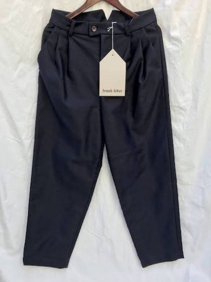 2020 A/W Frank Navy Moleskin 2tuck Trousers  Made in Germany Navy