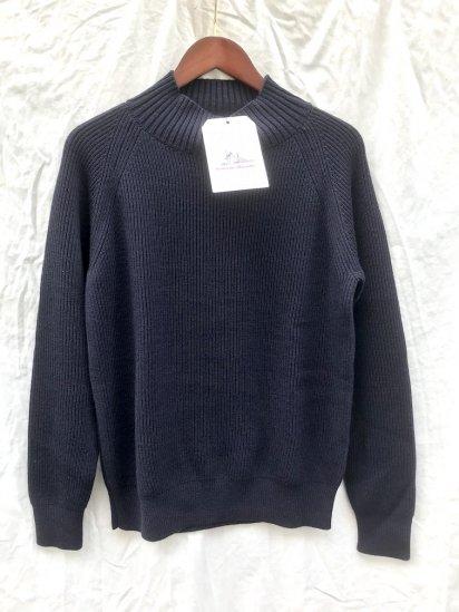 Vincent et Mireille 8GG AZE Knit Turtle Neck Sweater Navy