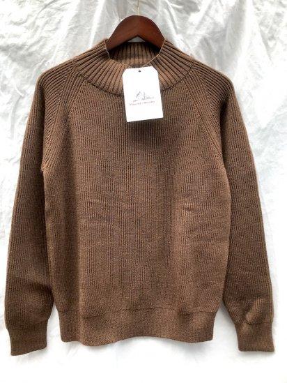 Vincent et Mireille 8GG AZE Knit Turtle Neck Sweater CHESTNUT