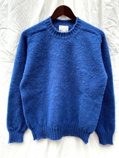 "Jamieson's Shaggy dog Crew Sweater Made in Scotland  ""ILLMINATE別注"" Blue"