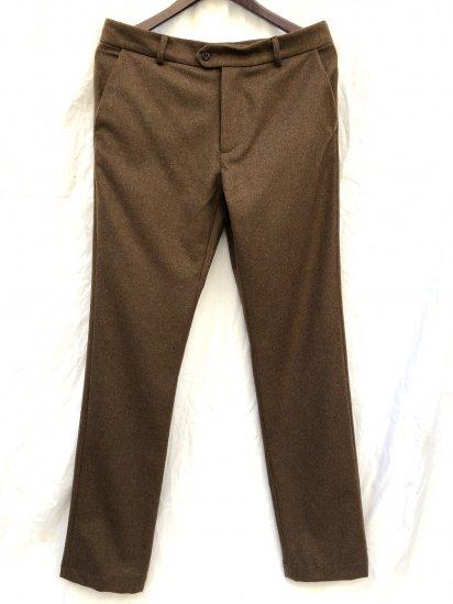 "2020 A/W FRANK LEDER ""Light Weight Loden Wool"" Slim Trousers Made in Germany Beige"