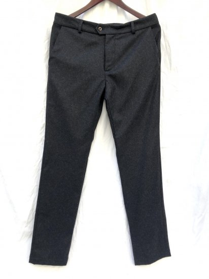 """2020 A/W FRANK LEDER """"Light Weight Loden Wool"""" Slim Trousers Made in Germany Black"""