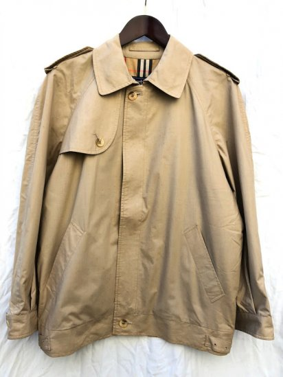 80's Vintage Burberrys' Short Trench Jacket Made in England Beige