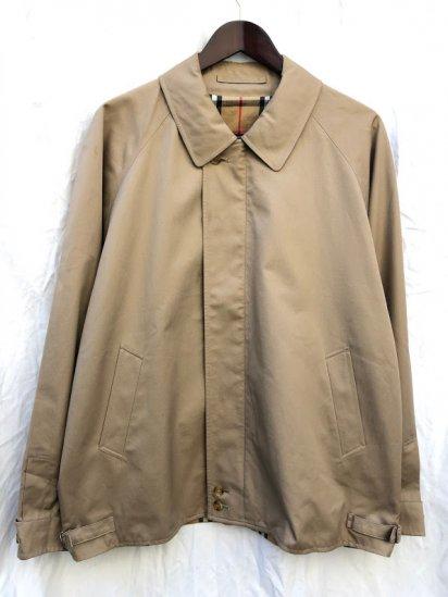 90's Vintage Burberrys' Harrington Jacket Made in England Beige
