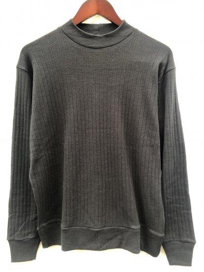Gicipi made in Italy Cotton x Cashmere Mock Neck Rib Sweater Black