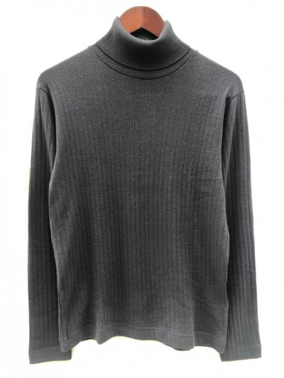 Gicipi made in Italy Cotton x Cashmere Turtle Neck Rib Sweater Navy