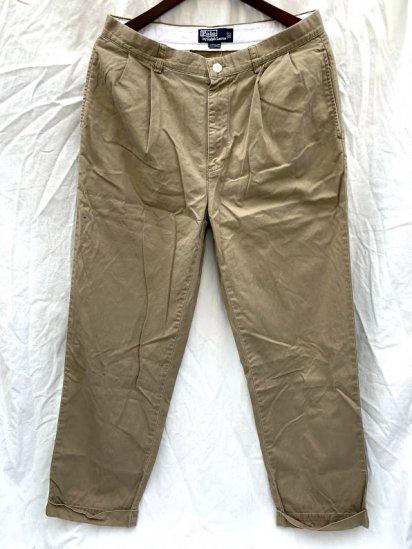 90-00's Old Ralph Lauren Cotton Chino Pants Khaki