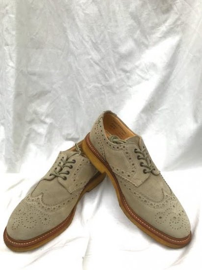 SANDERS Suede Brogue Shoes MADE IN ENGLAND