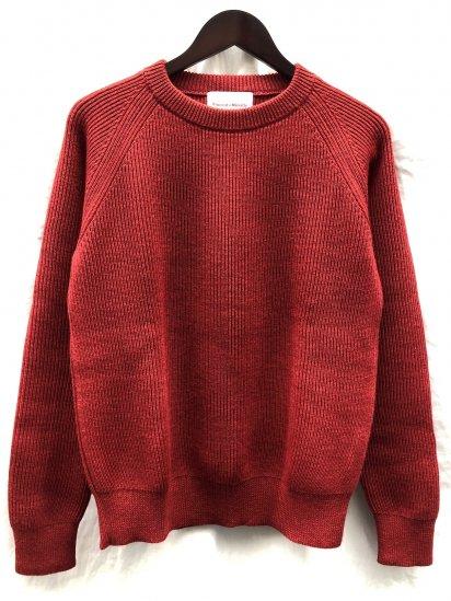 Vincent et Mireille 8GG AZE Knit Crew Neck Sweater Red