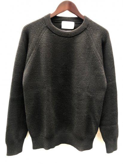 Vincent et Mireille 8GG AZE Knit Crew Neck Sweater Black