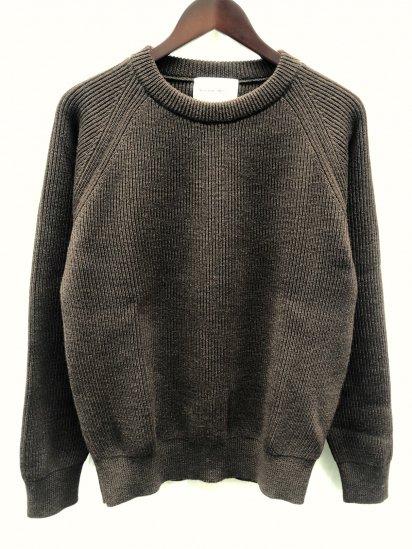 Vincent et Mireille 8GG AZE Knit Crew Neck Sweater Drak Brown