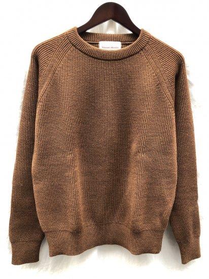 Vincent et Mireille 8GG AZE Knit Crew Neck Sweater Camel