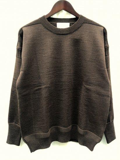 Vincent et Mireille 8GG Fishermans Sweater Dark Brown
