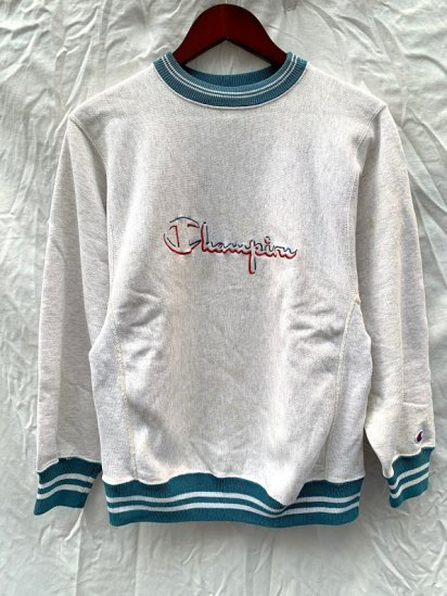 80~90's Vintage Champion Lined Rib Reverse Weave Sweat Shirts Made in USA