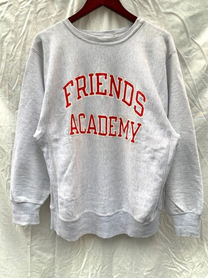 """~ 80's Vintage Champion """"FRIENDS ACADEMY"""" Reverse Weave Sweat Shirts Made in USA"""