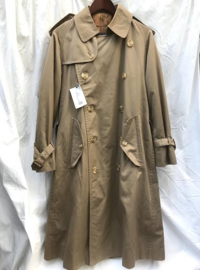 Vintage Burberrys' Trench 21/31 1 Panel sleeve & Wool/Camel Lining Made in ENGLAND Khaki Brown